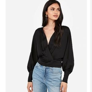 Express Satin pleated top